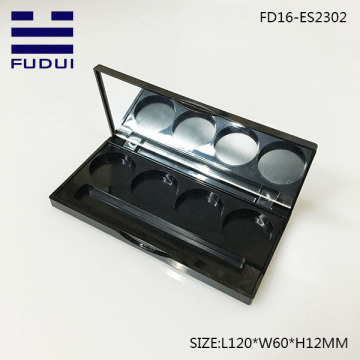 Wholesale empty plastic four color eyeshadow palatte