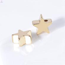 Benutzerdefinierte Großhandel Vergoldung 7mm Schmuck Zubehör Halskette Sterne Charms