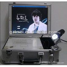 La más nueva máquina caliente del salón de la belleza del explorador del analizador del pelo de la piel del escritorio-tapa de la venta