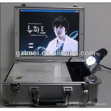 A mais nova máquina quente do salão de beleza do varredor do analisador do cabelo da pele-escrivaninha da venda quente