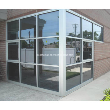 Mur en rideau en verre anodisé en aluminium anodisé naturel