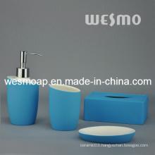 Blue Rubber Oil Coated Porcelain Bathroom Set (WBC0807A)