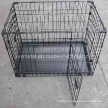 Double Doors Knock Down Metal Animal Pet Rabbit Cage