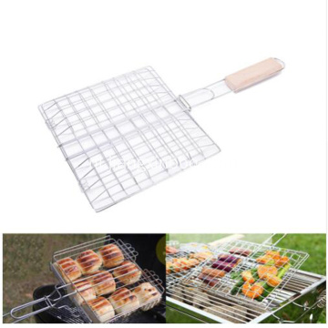 Multi-use basket-flipper met houten handvat grillen