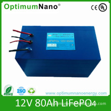 Long Life Cycle 12V 80ah Rechargeable Lithium Battery for UPS
