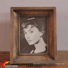 Rechteck Vintage Brown Tischständer Fotorahmen Hölzern