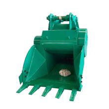 Concrete crusher machine bucket