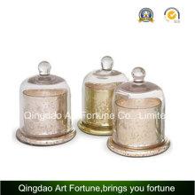 Vente chaude bougie cylindre bocal avec Cloche décoration