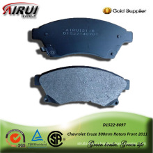 semi-metallic brake pad for Chevrolet Cruze 300mm Rotors Front 2011