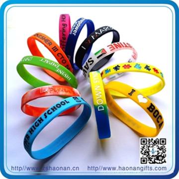Bracelets en silicone en vrac bon marché Giveaways (HN-SB-007)