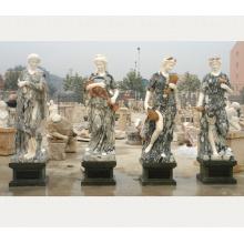 niveau d'art classique vie taille les quatre saisons statue en marbre