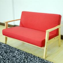 Selesa 321 tempat duduk Futon sofa Linen kerusi berlengan