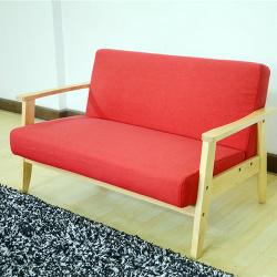 Comfortable 321 Seater Futon Sofa Linen Armchair