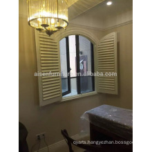 Home Decoration Elegant Style Wooden plantation shutter/window shutters with slat style