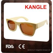 2015 lunettes de soleil en bois faits à la main polarisées vente chaude