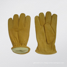 Cow Grain Leather Cut Resistant Driver Glove