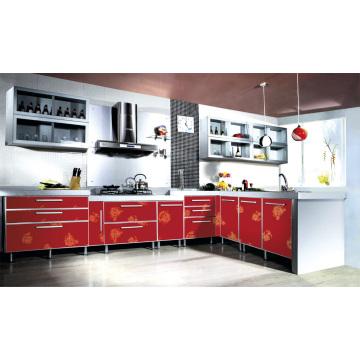 Cabinet de cuisine moderne en acrylique
