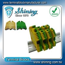 TF-G10 Din Rail Amarelo Verde 10mm2 Conector do cabo de aterramento