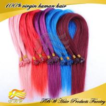 2014 Top vendendo cabelo virgem tecer com pontas coloridas