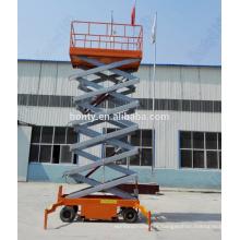 Mobile four wheels portable hydraulic scissor table lift price