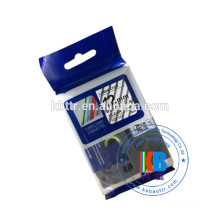 Compatible type Tz laminated printer thermal transfer label tape black on white 12mm