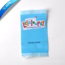 Etiqueta tejida poliéster suave de la marca de belleza de alta calidad / etiqueta de la ropa