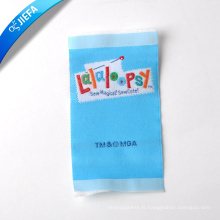 Marque de beauté de haute qualité tissé par polyster doux étiquette / étiquette de vêtements