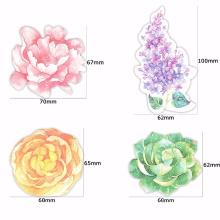 Novas Penas Coloridas Kawaii Bookmarks Decoração DIY Adesivos livro nota pegajosa, bloco de notas pegajosas