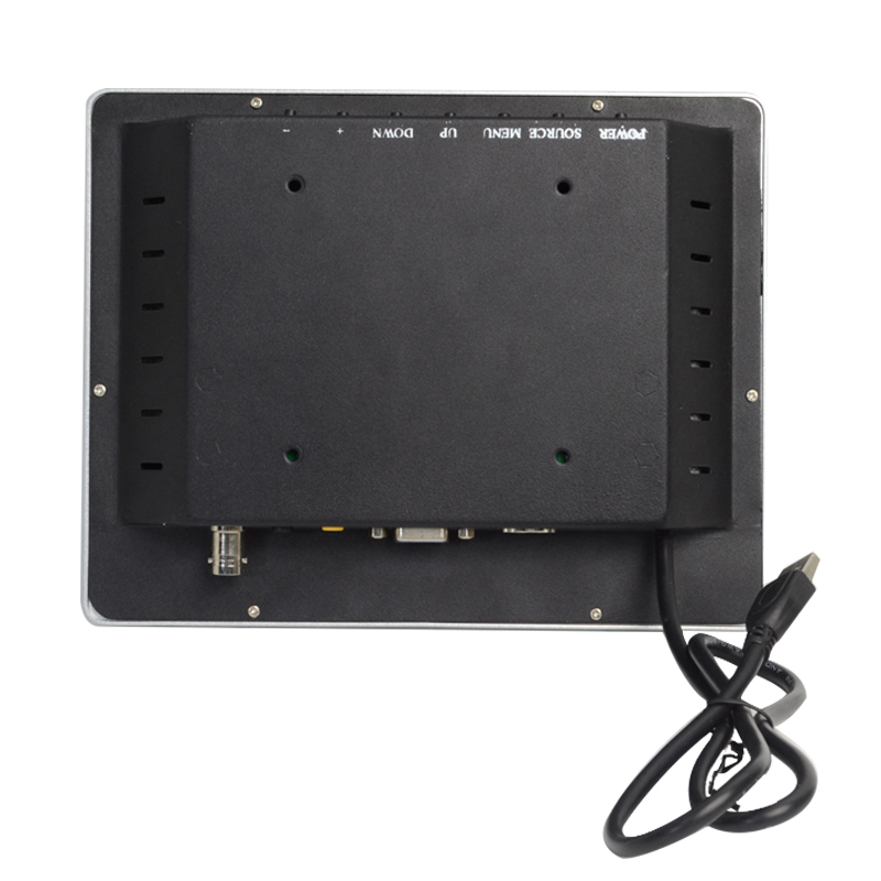 Square PCAP touch monitor back view
