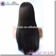 Qingdao Haiyi Haar Virgin Cuticle ausgerichtet Haar seidig gerade volle Spitze Perücke für schwarze Frauen