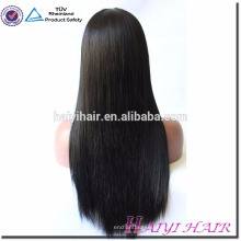 Qingdao Haiyi Cabelo Virgem Cutícula Alinhados Cabelo Sedoso Reta Peruca Cheia Do Laço Para As Mulheres Negras