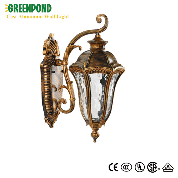 Wrought Aluminum Wall Lamp with Light Bulb