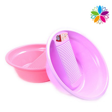 Fashion Design Plastic Wash Basin with Washboard (SLP030)