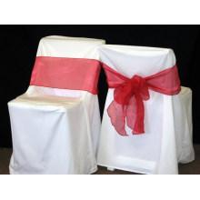 Polyester épaisseur de 200gsm banquet couverture de chaise pour mariage hôtel banquet / rides et tache résistante