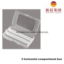 3 Parallel Compartment Plastic Box