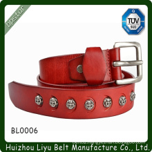 Cool Girls Skull Metal Leather Belts