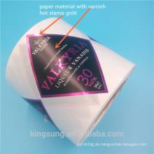 Papier, Stoff, Vinly Material Farbe gedruckt Label Aufkleber mit Laminierung