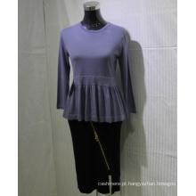 Camisola de cashmere nova senhorita para primavera e outono