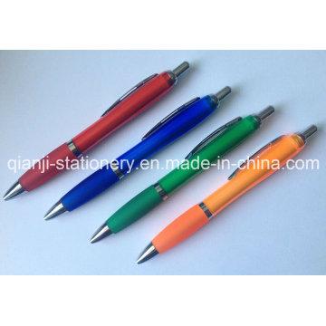 Borracha plástica Ballpen caneta caneta promocional impressão logotipo caneta (P3010A)
