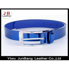 Lady′s Fashion Leather Mirror Belt