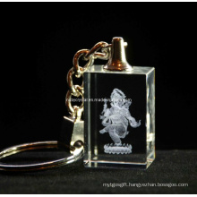 Ganesha Crystal Keyring for Religious Promotion Gift (R3021)