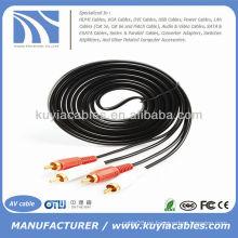 10ft 2RCA macho a 2RCA macho cable de audio estéreo doble Cable de audio y vídeo cable 3m