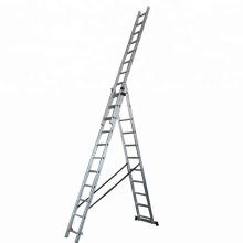 hot sale aluminium combination triple extension ladder foldable EN131