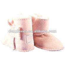 Zapatos de bebé de piel de oveja