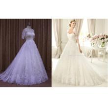 Veste détachable dentelle paillettes perles robes de mariée