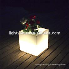 commercial de jardinières pots/extérieur conduit pots de fleur lumineux/plastique