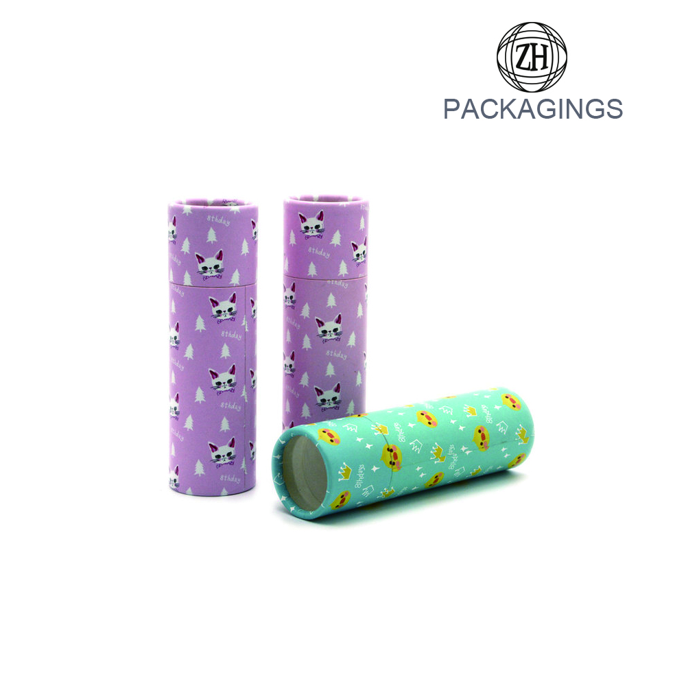 Colorful cardboard tube for packaging/round box