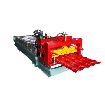 Monocouche hydraulique circulaire arc 828 carreaux émaillés toiture panneau feuille faisant la machine métal froid rouleau formant la machine