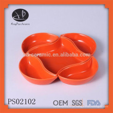 Conjunto de placas inovadoras, dinnerware grés, placa de cerâmica de cor conjunto