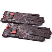 Мужская мода морщинистой овчины кожа Водительские перчатки (YKY5185)